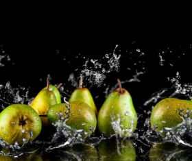 Pear and splash of wate Stock Photor 02