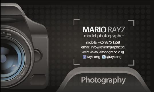 photographer business card psd template life psd file free download