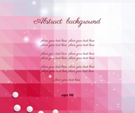 Pink elegant abstract background vector 01