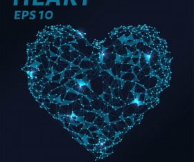 Points lines and 3D heart vector