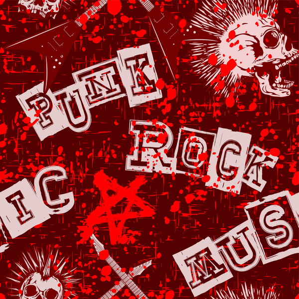 Punk rock with music background vector - Vector Background ...