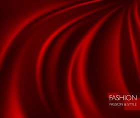 Red smooth silk background vector 01