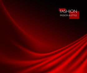 Red smooth silk background vector 02