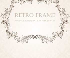 Retro frame vintage illustration vector 01