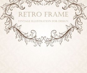 Retro frame vintage illustration vector 04