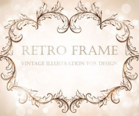 Retro frame vintage illustration vector 05
