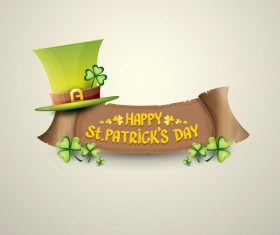 Retro saint patricks day labels vector 02
