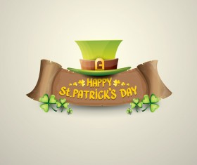 Retro saint patricks day labels vector 03