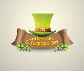 Retro saint patricks day labels vector 04