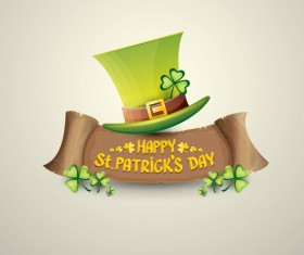 Retro saint patricks day labels vector 06