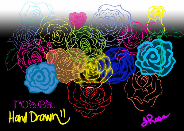 Roses hand drawn photoshop brushes