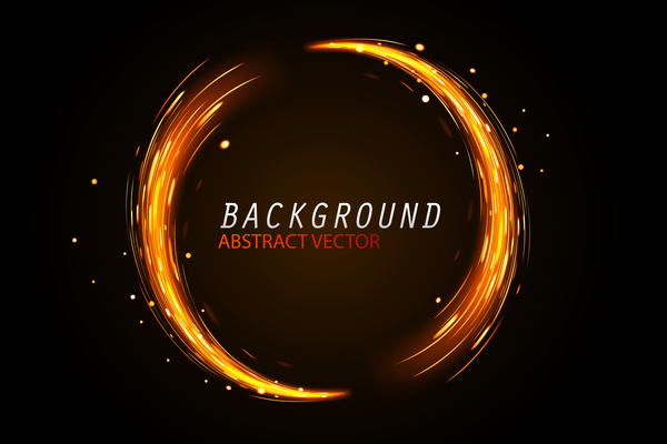 Round spark background vector