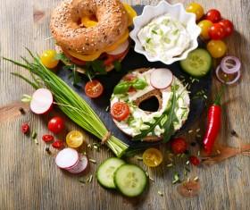 Rye whole grain fresh sandwich HD picture 02