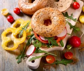 Rye whole grain fresh sandwich HD picture 03