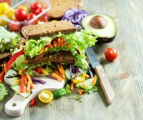 Rye whole grain fresh sandwich HD picture 05