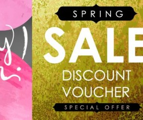 Sale discount voucher template vector 01