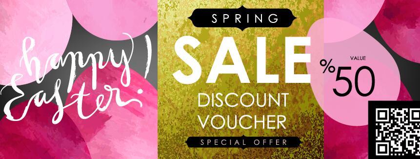 Sale discount voucher template vector 01