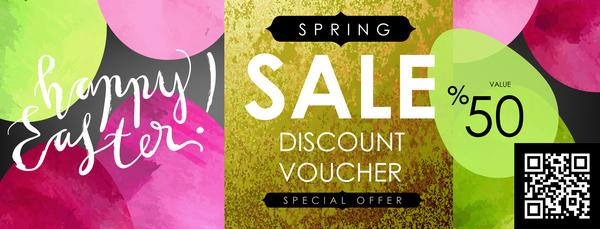 Sale discount voucher template vector 02