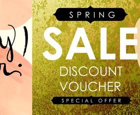 Sale discount voucher template vector 03