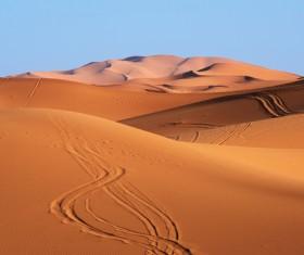 Sand dunes of Sahara desert Stock Photo 03