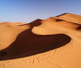 Sand dunes of Sahara desert Stock Photo 04