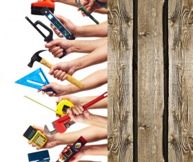Set of diy tools Stock Photo 01
