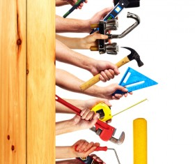 Set of diy tools Stock Photo 09