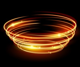 Shining spark ring background vector 01