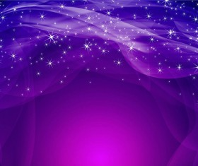 Shiny star light with wave purple background vector