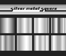 Silvel metal square vector material