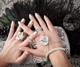 Silver white nail Stock Photo