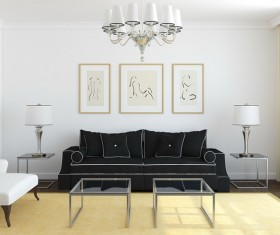 Small living room furnishings Stock Photo