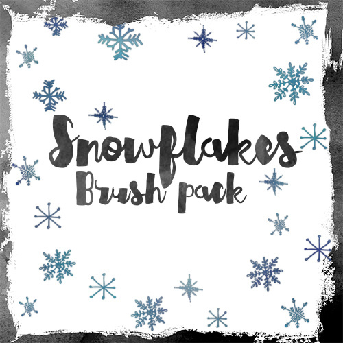 Snowflakes photoshop brushes pack