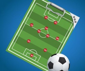 Soccer background with strategy vectors design 01