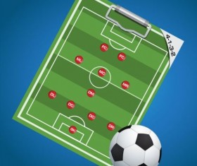 Soccer background with strategy vectors design 07