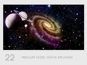 Space photoshop brushes set