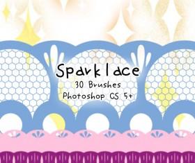 Spark lace photoshop brushes