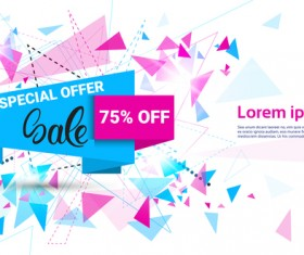 Special offer sale abstract template vector 01