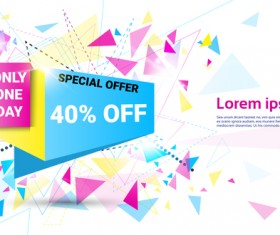 Special offer sale abstract template vector 03