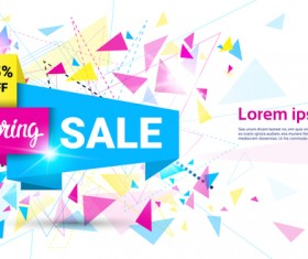 Special offer sale abstract template vector 04