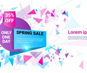 Special offer sale abstract template vector 06