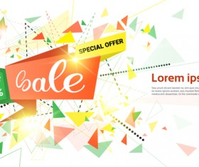 Special offer sale abstract template vector 07