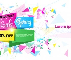 Special offer sale abstract template vector 08