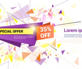 Special offer sale abstract template vector 10