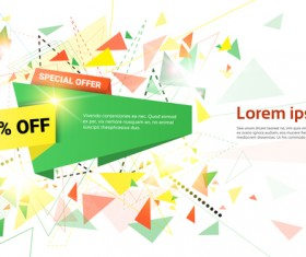 Special offer sale abstract template vector 12