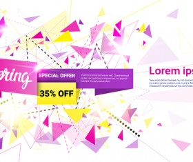 Special offer sale abstract template vector 13