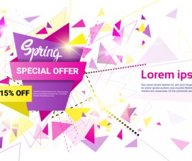 Special offer sale abstract template vector 14