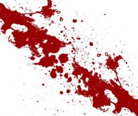 Splashing blood effect vector background 01