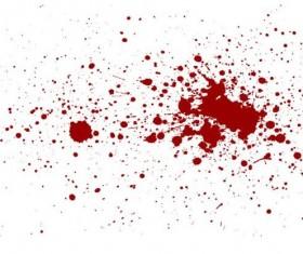 Splashing blood effect vector background 02