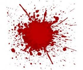 Splashing blood effect vector background 05